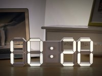 Wholesale Creative Remote Control Large LED Digital Wall Clock Modern Design Home Decor d Decoration Big Decorative Watch White Black