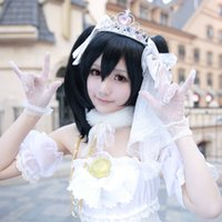airs project - Nico Wedding Dress Anime Love Live Cosplay costumes School Idol Project White Satin China Post Air Mail