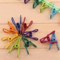 Wholesale Multipurpose Hangers And Racks High Quality Single Convenience Storage Clip Color Cute Strong Spring Clothesline Wind Clip