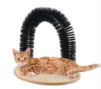 Wholesale Cat Toys Arch Grooming Brush Self Groomer With Round Fleece Base Cat Toy Perfect Scratching Devices For Pets Purrfect Arch