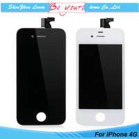 cell parts - Replacement Repair Parts For iPhone iPhone G Cell Phone LCD Display Touch Screen Digitizer full Assembly White Black DHL