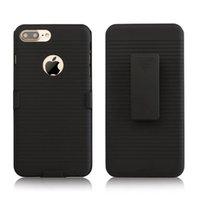 al por mayor iphone pinza caso camo-Clip cinturón híbrido duro caso de la PC para Iphone 7 I7 más 6 6S SE 5 5S Camo 3 en 1 soporte cauchutado a prueba de choques teléfono celular de la piel de la cubierta de moda 1pcs