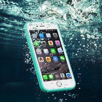 gold dust - For Iphone S7 Waterproof Case TPU Rubber Full Boday Cover For iphone s plus s Shock proof Dust proof Underwater Diving Cases