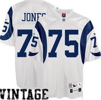 Wholesale Deacon Jones Los Angeles throwback retro vintage Jersey shirts size S small xl