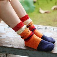 assorted leg warmer - Hot Sale Fashion Wool Girls Women Socks Retro Assorted Colors Striped Winter Warm Girls Leg Warmers Boots Socks Z131
