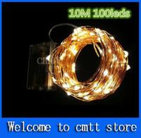 AA batería operado 33FT 3M 30 llevó decoración de la boda de vacaciones de Navidad Festi LED de cobre de alambre de la cadena de luces de hadas lámparas