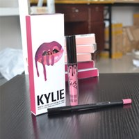 Wholesale Kylie Lip Kit kylie jenner cosmetic Lipstick Kylie lipgloss liquid matte colors lipliner in stock