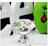 Wholesale 20 mm Diamond Shape six colors Crystal Glass Cabinet Handle Cupboard Drawer Knob Pull