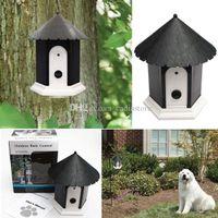 Wholesale Dog Pet Outdoor Ultrasonic Anti Bark Barking Control Discreet Birdhouse J00006 FSH