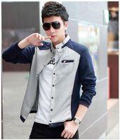 age blue coat - The new age season han edition men s jacket color matching plover grid sports coat collar men men s wear