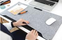 Wholesale 2016 New Felt Sleeve Laptop Desk Mat Fashion Durable Modern Table Felt Office Desk Mat Mouse Pad Pen Holder