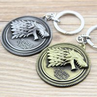 Wholesale Game of Thrones Shield Round Coin Metal Keychain Pendant Key Chain Chaveiro Key Ring KT158