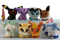 Wholesale 300PCS Poke Plush Toys Umbreon Eevee Espeon Jolteon Vaporeon Flareon Glaceon Leafeon Animals Soft Stuffed Dolls toy D857