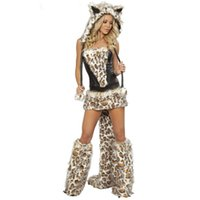 adult cheap costumes - Cheap Hot New Arrival Sexy Adult Fox Costume Woman Cat Animal Cosplay Halloween Leopard Costume Party Performance
