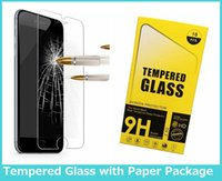 Wholesale Tempered Glass Screen Protectors For Iphone S D Explosion Clear Screen for LG Stylo2 Galaxy J7 Film S6 mm with Paper box