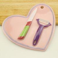Wholesale Kitchen knives ceramic knife cutting board planing three pieces fruit knife peeler fruit peeler apple peeler