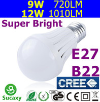 cheap light bulbs - Cheap LED Bulbs B22 E27 Globe Light Bulb V V W W W W W Super Bright CREE LED Lamp Dimmable NON Dimmable