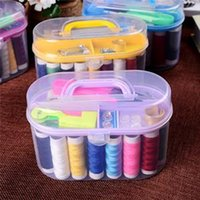 Wholesale Practical Portable Thorn Rust Sewing Kit Needle and thread hand sewing Box kit Double Layer