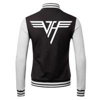 baseball turtleneck - Fall Eddie Van Halen Guitar II winner new hot sell Sportswear hoodie baseball uniform lover s jacket Casual coat Van Halen