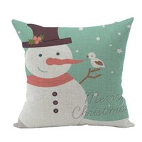 Wholesale Christmas Cushion Cover Xmas Ambience Square Pillow Case Sofa Home Christmas Gifts Size CM cm