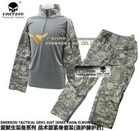 acu combat - BDU combat uniform EMERSON ACU tactical shirt pants with knee pad elbow pad EM2727