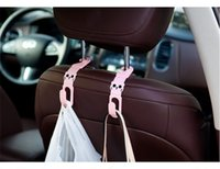 Wholesale Cartoon Animal Style Car Back Seat Headrest Purse Auto Fastener Hanger Holder Hook Purse Cloth Grocer Car Back Seat Clip