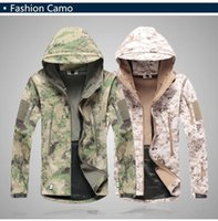 Wholesale Hot Sale Mens Jacket Lurker Shark Skin Shell Outdoor Tactical Camping Hiking Jackets Waterproof Windproof Sports Jackets Fashion Camouflage