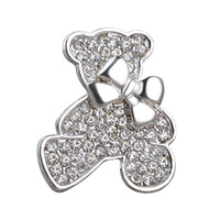 bear brooch - 2016 Vintage Jewelry Small bear Plated Brooch For Women Crystal Rhinestone Animal Badge Broche Suit Scarf Pin Brooches zj
