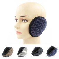 Wholesale Unisex Sports checked Earmuffs Earcap Ear warmer Winter Warm Plush Ear muffs EW