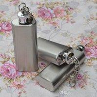 Wholesale Silver Color Portable Durable Pocket oz Wine Flask Bottle Mini Stainless Steel Liquor Flask Screw Cup