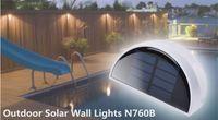 Wholesale New Energy Saving Environmental Protection Led Solar Christmas Lights Solar Garden Lights N760B Induction Wall Lamp Outdoor Lighting