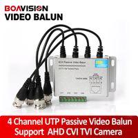 balun converter - 4Ch CCTV BNC Video Balun RJ45 Port Or Terminal Block UTP Cable Transfer CCTV Video Converter Plug And Play Support P HDCVI Camera m