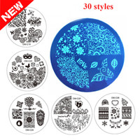 art carton - 30 Styles nail stamping printing plates cheap Kinds flower and carton design Nail Art Decor Image Stamps Plate