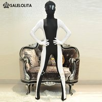 Wholesale 2016 New Arrivals Black White Lycra Spandex zentai bodysuit For Women