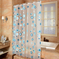 Wholesale 2016 New Style PEVA Material x180cm Cheap Bathroom Accessories Shower Curtain Waterproof Mildew Proof Bath Curtains
