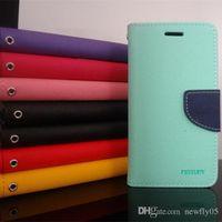 Mercury Case portable en cuir étui de téléphone Samsung Galaxy S2 pour Samsung I9100 Galaxy S3 I9300 S4 i9500 NOTE 2 N7100 Note 3