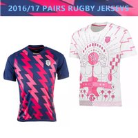 Wholesale new top thai Paris jerseys all black New Zealand survetement shirts Home BLUE Away WHITE Football jersey de futbol Rugby Jerseys