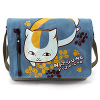 Sacs messenger denim pour femmes Prix-Anime Natsume's Book of Friends IMPRESSION zippée en toile khaki Flip cover FEMME étudiante unisexe Sac bandoulière Messenger Bags Perfect Quality
