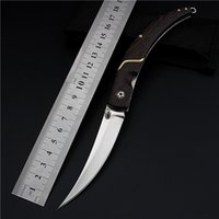 Wholesale 2017 Hot Sale Real Wood Knives Promotion High Quality Outdoor Folding Knife Self defense Wilderness Survival with Hardness Wild Fruit Fangs