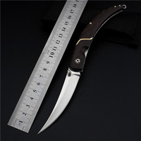 Wholesale Wig Cap Wigs Wood New Knives Karambit High Quality Outdoor Folding Knife Self defense Wilderness Survival with Hardness Wild Fruit Fangs
