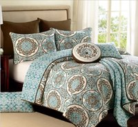 Wholesale 100 Cotton Europeanl Style Floral printing Queen Size Bedspread Bedding Sets Air Condition Quilt blanket