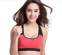 Wholesale Seamless yoga fitness exercise women vest nylon elastic woman sports running bra rimless no bound sleeping underwear M