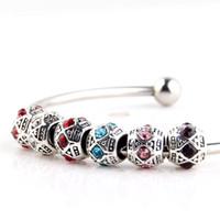 alloy application - 2016 new diamond search Tonggu Pandora Alloy Beads DIY Accessories Tibetan Silver Beaded Bracelet Application Materials