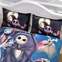 Wholesale Hot Sale Nightmare Before Christmas Bedding Set Qualified Bedclothes Unique Design No Fading Duvet Cover Twin Full Queen