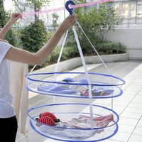 Wholesale Foldable Laundry Hanger Dryer Clothes Basket Tiers Mesh Net Drying Rack