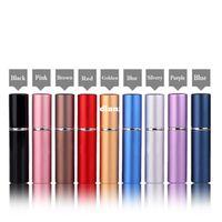 Wholesale 6ml Mini Portable Refillable Perfume Atomizer Colorful Spray Bottle Empty Perfume Bottles