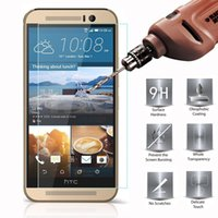 accuracy glass - HTC One M7 M8 M9 Tempered Glass Screen Protector No Bubbles Anti Oil Anti Scratch Extra Thin High Definition Touchscreen Accuracy