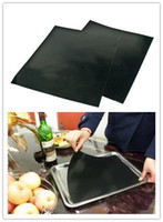 Wholesale 40PCS PTFE Non stick BBQ Grill Mat Barbecue Baking Liners Reusable Teflon Cooking Sheets cm Cooking Tool MD790
