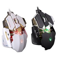 Wholesale The High end Players Professnional For Game Usb D Buttons Colors LED Breathing Light Optical For Laptop PC Rato com fio
