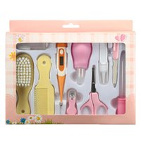 baby health kit - 10pcs Newborn Baby Kids Nail Hair Health Care Thermometer Grooming Brush Set Kit Safe And Easy To Use